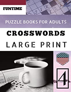 Crossword puzzle books for adults large print: Funtime 50 Large Print Crosswords Puzzles to Keep you Entertained for Hours (Telegraph Daily mail Quick Crossword Puzzle)
