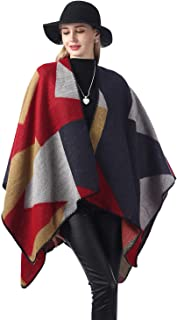 Warm Shawl and Wraps Winter Poncho Cape for Women Open Front Poncho