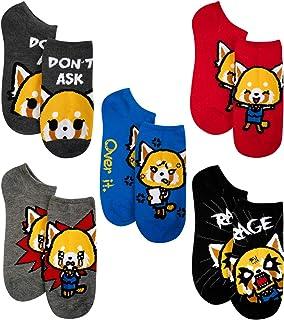 Aggretsuko-Retsuko Unisex No-Show Fashion Novelty Socks (5-Pack)