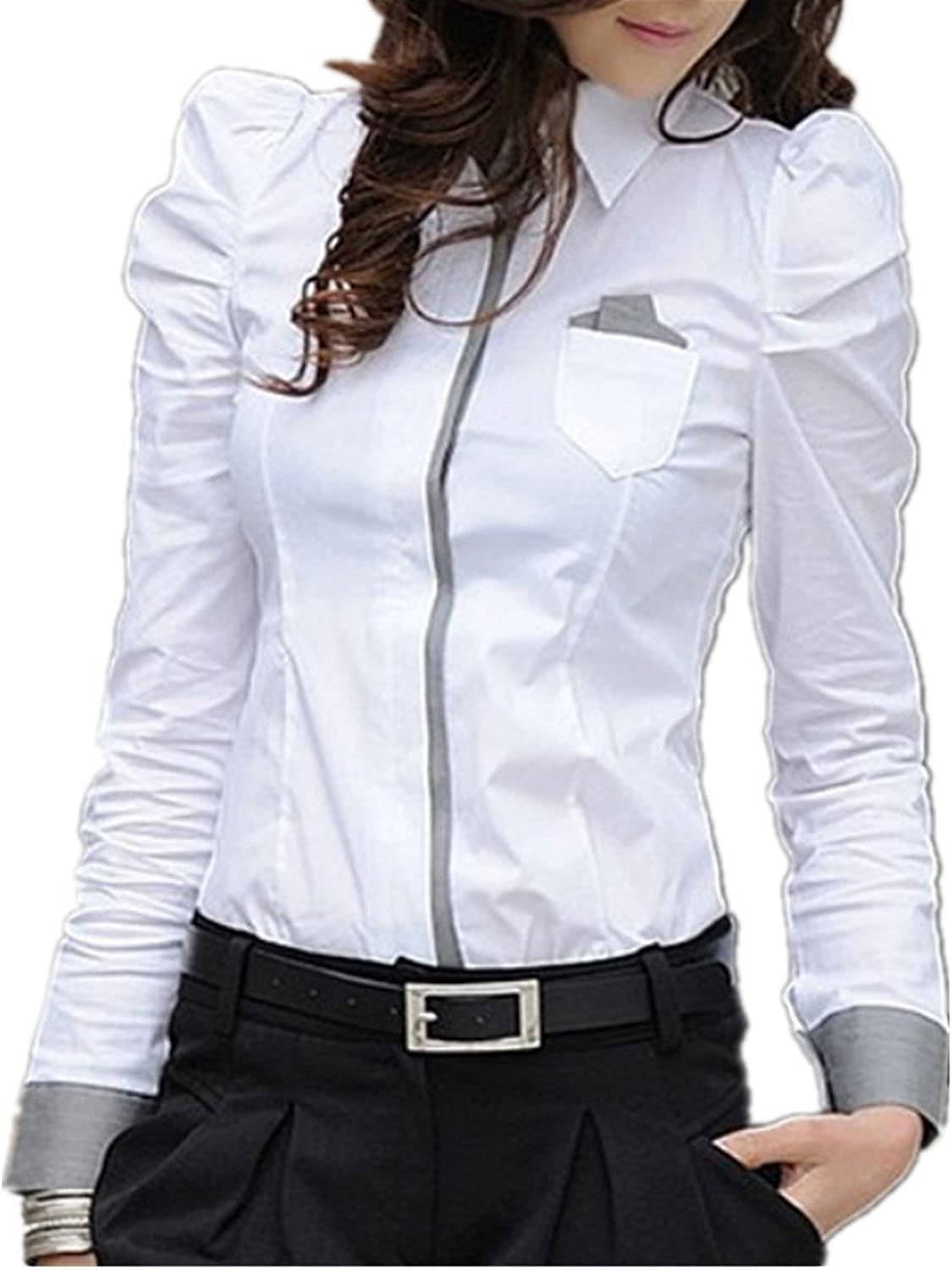 Sexy Ol Women Fashion Shrug Bubble New popularity Slim Cotton Long 2021 spring and summer new Shirt Sleeve