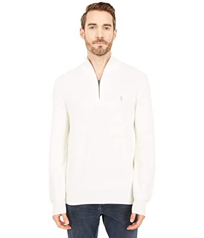 Polo Ralph Lauren Textured Pique 1/2 Zip (Antique Cream) Men