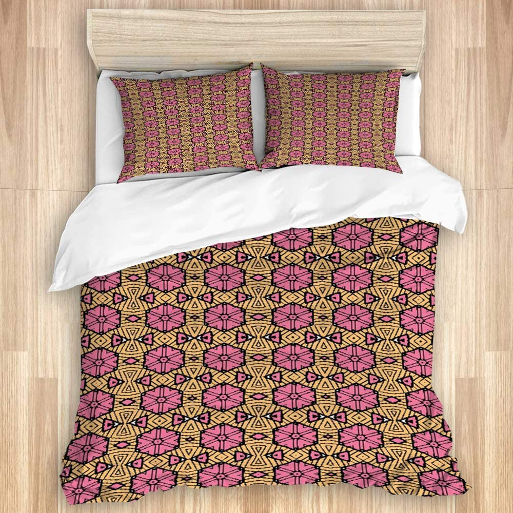 ADONINELP Mail Selling and selling order Duvet Cover Set Vintage Mot Geometric Abstract Colored