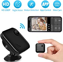 Spy Camera, Mini Hidden Camera with Remote Viewing, 1080P Full HD Security Surveillance Tiny Camera with Night Vision and Motion Detection, Hidden Spy Cam withPhoneApp for Home Office