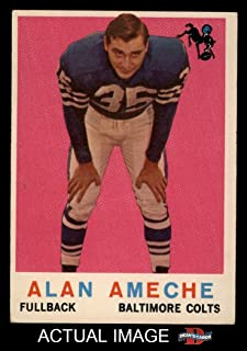 1959 Topps # 30 Alan Ameche Baltimore Colts (Football Card) Dean's Cards 5 - EX Colts