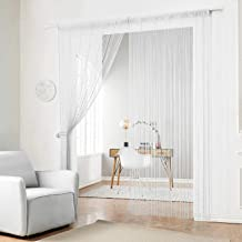 HSYLYM Beaded String Curtain with Plastic Beads Chain Fringe Tassel Door Curtains Panels for Door Wall and Window Decoration