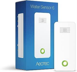 Aeotec ZW122-C Congelación de Agua 6 Z-Wave Sensor de Inundaciones Fugas y Detector de Temperatura, Color Blanco