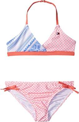 Tommy Hilfiger Kids - Pattern Mix Two-Piece Swimsuit (Toddler)