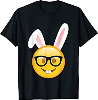Nerd Face Emoji Funny Bunny Easter T Shirt Gifts