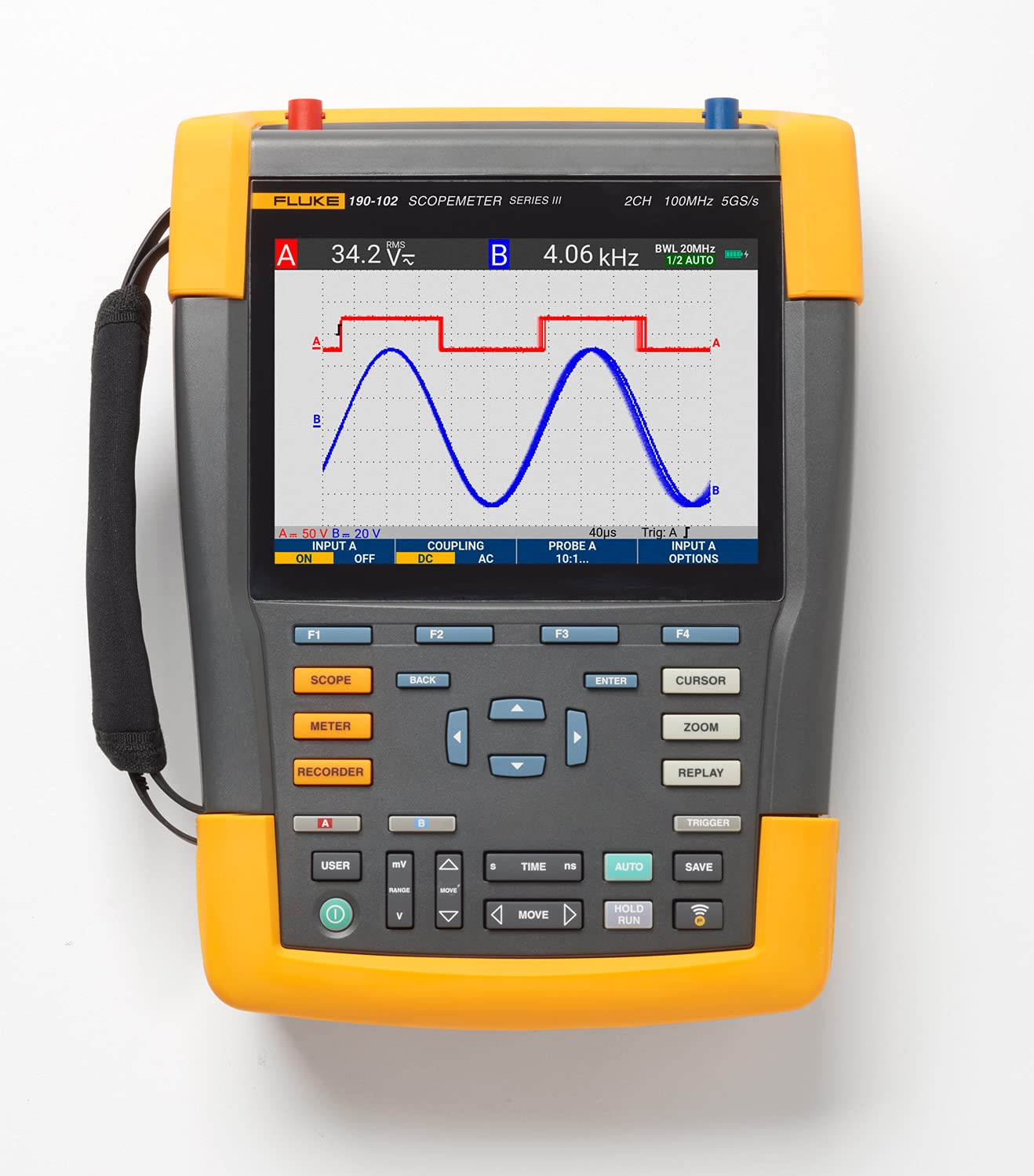 Fluke 190-102-III Cal Color ScopeMeter High quality Don't miss the campaign new Plus MHz 2 100 Channels
