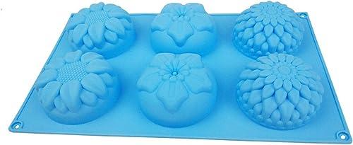 discount Z-bond 5 popular PCS Silicone Flower Soap wholesale Mold Cake Baking Mold Cake Pan outlet online sale