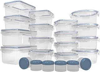 HUGE SET (22 Pack) Food Storage Containers with Lids - Plastic Food Containers with Lids - Airtight Leak Proof, Easy Snap Lock Lunch Box, BPA-Free Plastic Storage Container Set