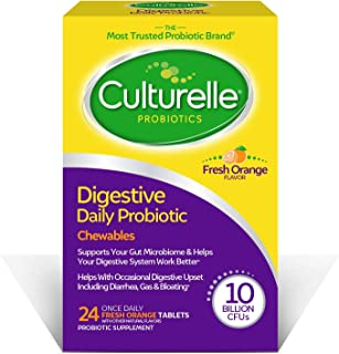 Culturelle Digestive Health Daily Probiotic Chewables for Adults, With Lactobacillus GG –The Most Clinically Studied Probi...