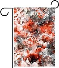 Tuinvlag, Decor Yard Banner Boerderij Outdoor Decoratie Rode en Zwarte Bloemen Verticaal 28x40 Inch