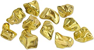 Beistle 52168 Plastic Nuggets, 1.06 oz, Gold