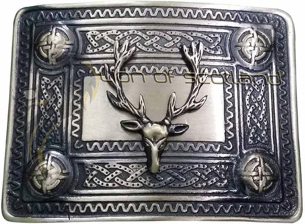 Men's Scottish Kilt Belt Buckle Antique Head Stag Finish Limited time cheap sale Memphis Mall Highlan