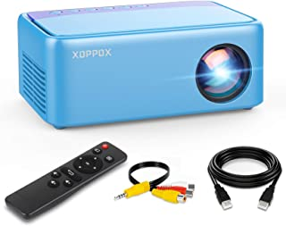Mini Projector, Portable Projector, XOPPOX 1080p Video...
