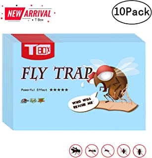 Fly Trap,Fruit Fly Trap,Fly Paper, Effective & Portable Fly Traps for Outdoor and Indoor Use(10 Pack)