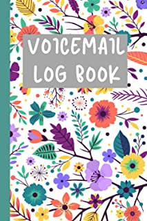Voicemail Log Book: Voicemail log notebook & Phone Call Log Book, Over 400 Voicemail Record Space, Home & Office Supplies,...