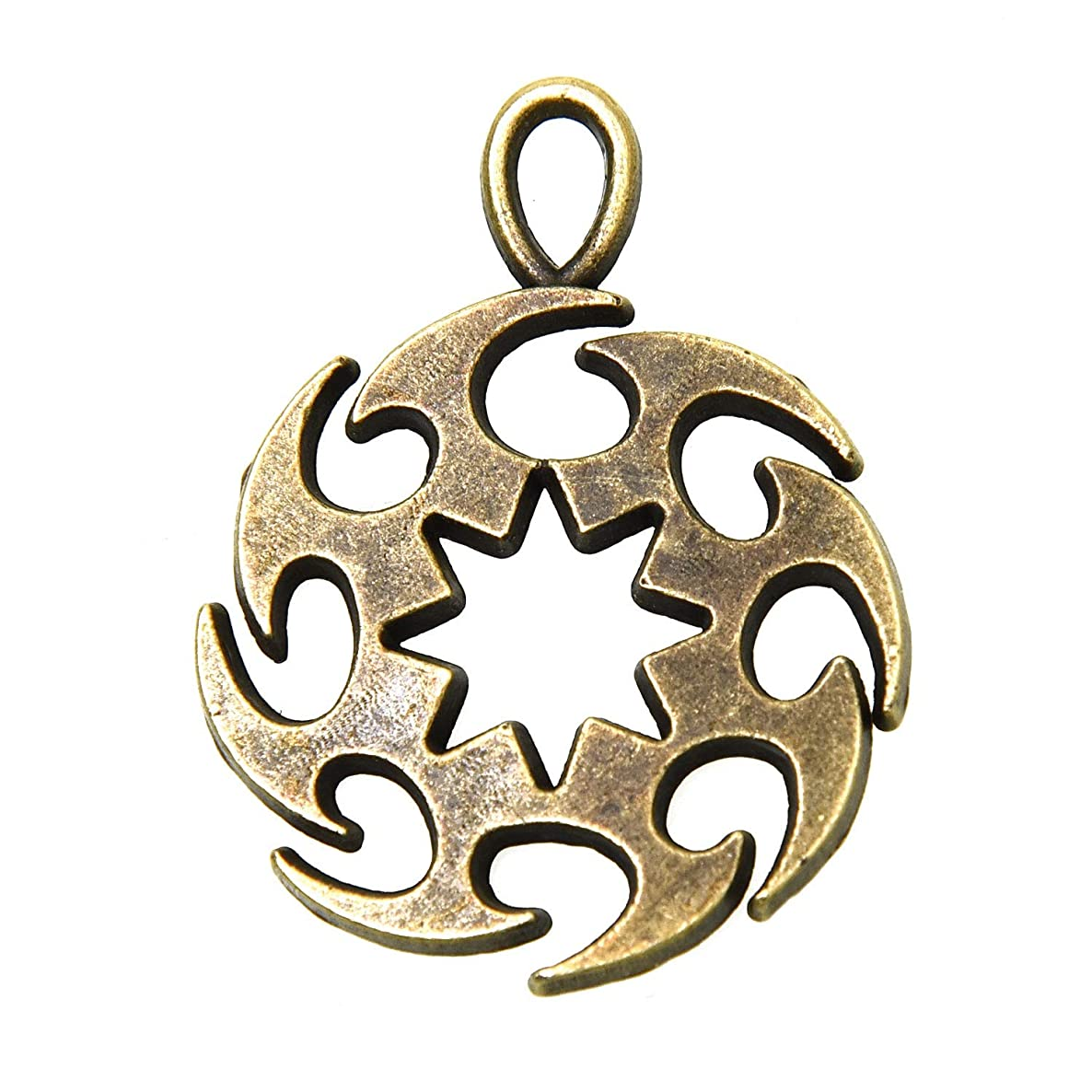 Monrocco 20 PCS Beading Jewelry Making Charms Antique Bronze Gear Wheel Charms Hot Wheel Charms Pendant for DIY Jewelry Making