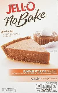 JELL-O Pumpkin Pie No Bake Dessert Mix (9.2 oz Boxes, Pack of 6)