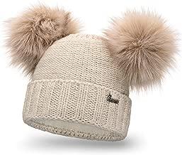 Chauds Bonnet Hiver Bonnet pompon bonnet motif torsadé Femmes Doublure Neverless ®
