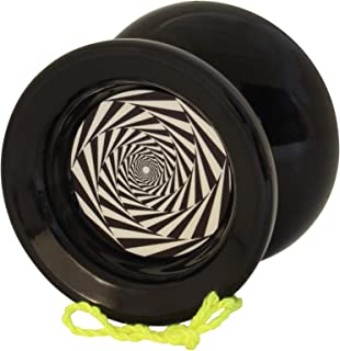 Yoyo King Black Mesmerize Professional Responsive Trick Yoyo with Ball Bearing Axle and Extra String