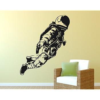 Primestick Wandtattoo Wandaufkleber Astronaut 201c Schwarz 120x145cm Ral9005 Amazon De Kuche Haushalt
