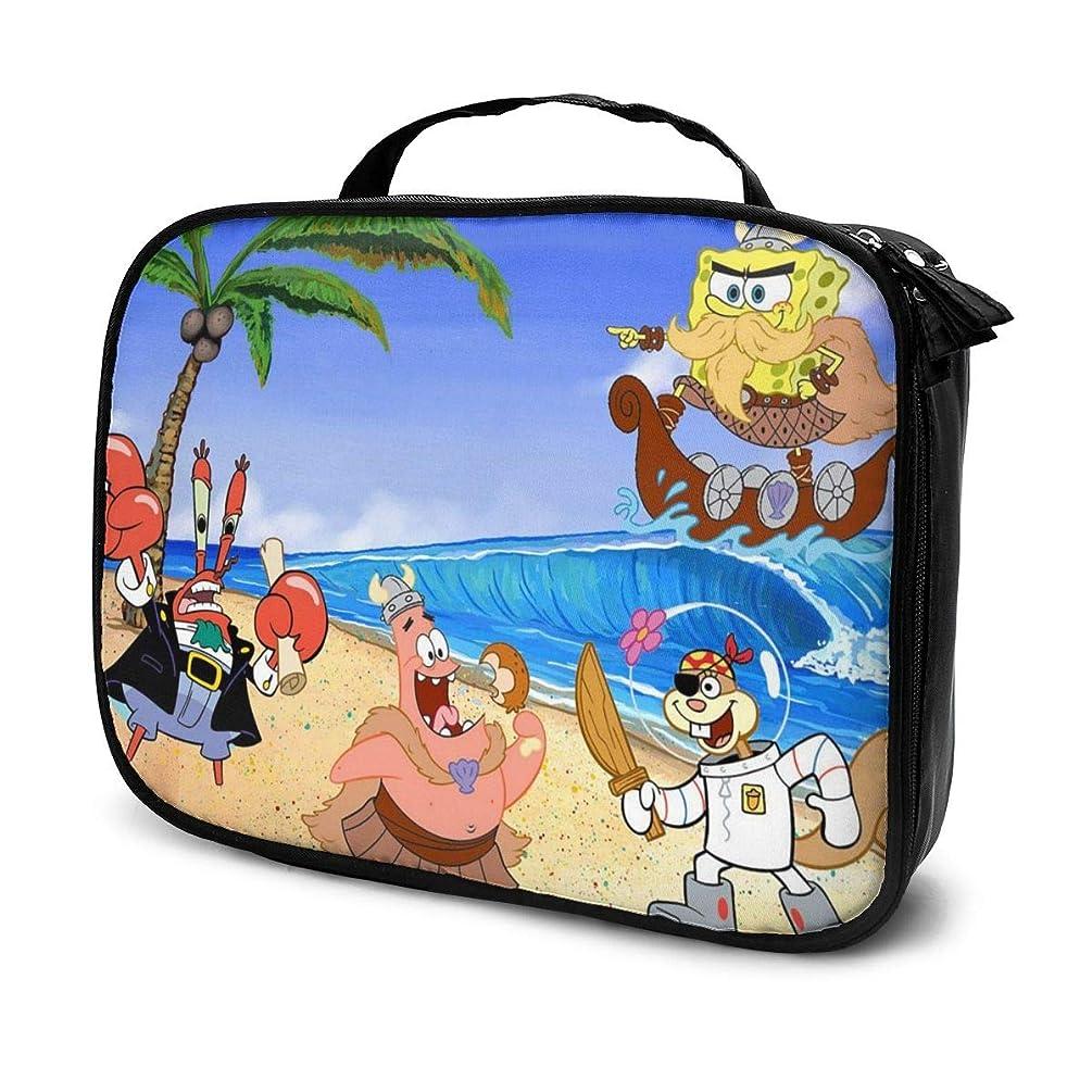 咳最も早い浸漬Daituスポンジボブの写真 化粧品袋の女性旅行バッグ収納大容量防水アクセサリー旅行
