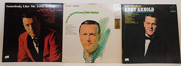 Eddy Arnold Lot of 3 Vinyl Record Albums Turn the World Around and more