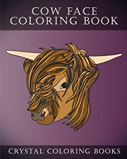 Cow Coloring Book: 30 Simple Line Drawing Cow Face Coloring Pages (Animal) (Volume 5)