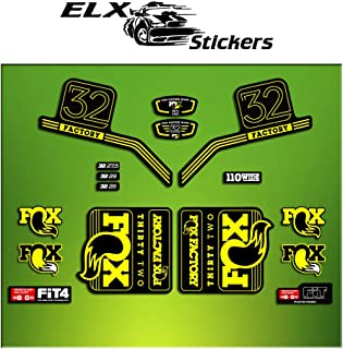 Ecoshirt IL-MDHO-U8YS Autocollants Fork Fox 34 Performance Elite 2017 Am82 Autocollants Fourche Gabel Fourche Gris