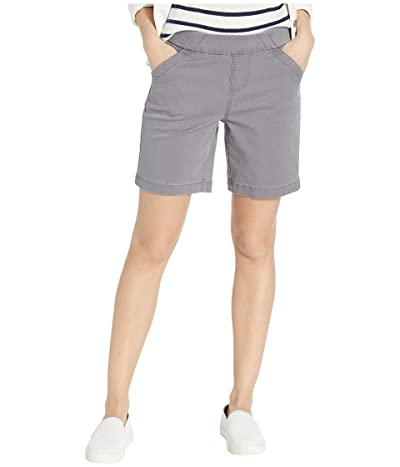 Jag Jeans 8 Gracie Pull-On Shorts in Twill (Grey Streak) Women