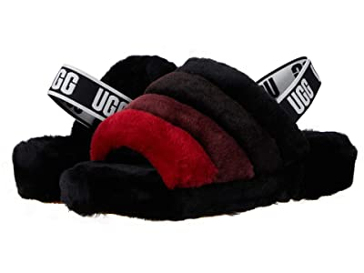 UGG Fluff Yeah Slide (Black Multi 1) Women
