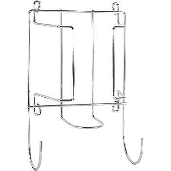 Ironing Board Holder Hanger Cupboard Door Wall Mount Storage Rack Black//White UK
