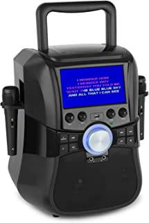 "aunaStage Hero - Mobiel karaokesysteem, karaokesysteem, Bluetooth en dvd, 7 ""TFT-display, 2 x microfoon en kabel, batteri..."