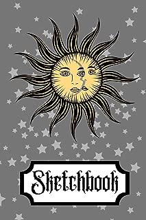 Sketchbook: Sun Moon Stars Wicca Magic Art Gift - SKETCHBOOK, 130 pages, 6