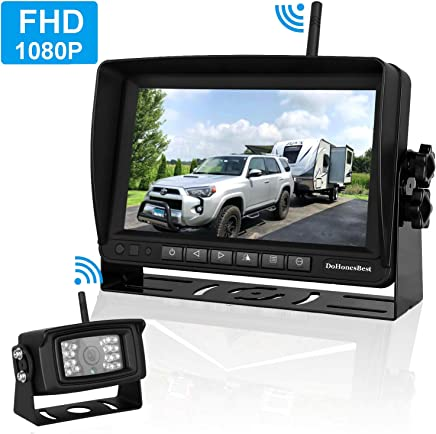 "$169 Get FHD 1080P Digital Wireless Backup Camera and Monitor Kit High-Speed Observation System for RVs/Motorhomes/Trucks/Trailers with 7"" Monitor Driving/Reversing Use IP69K Waterproof Super Night Vision"