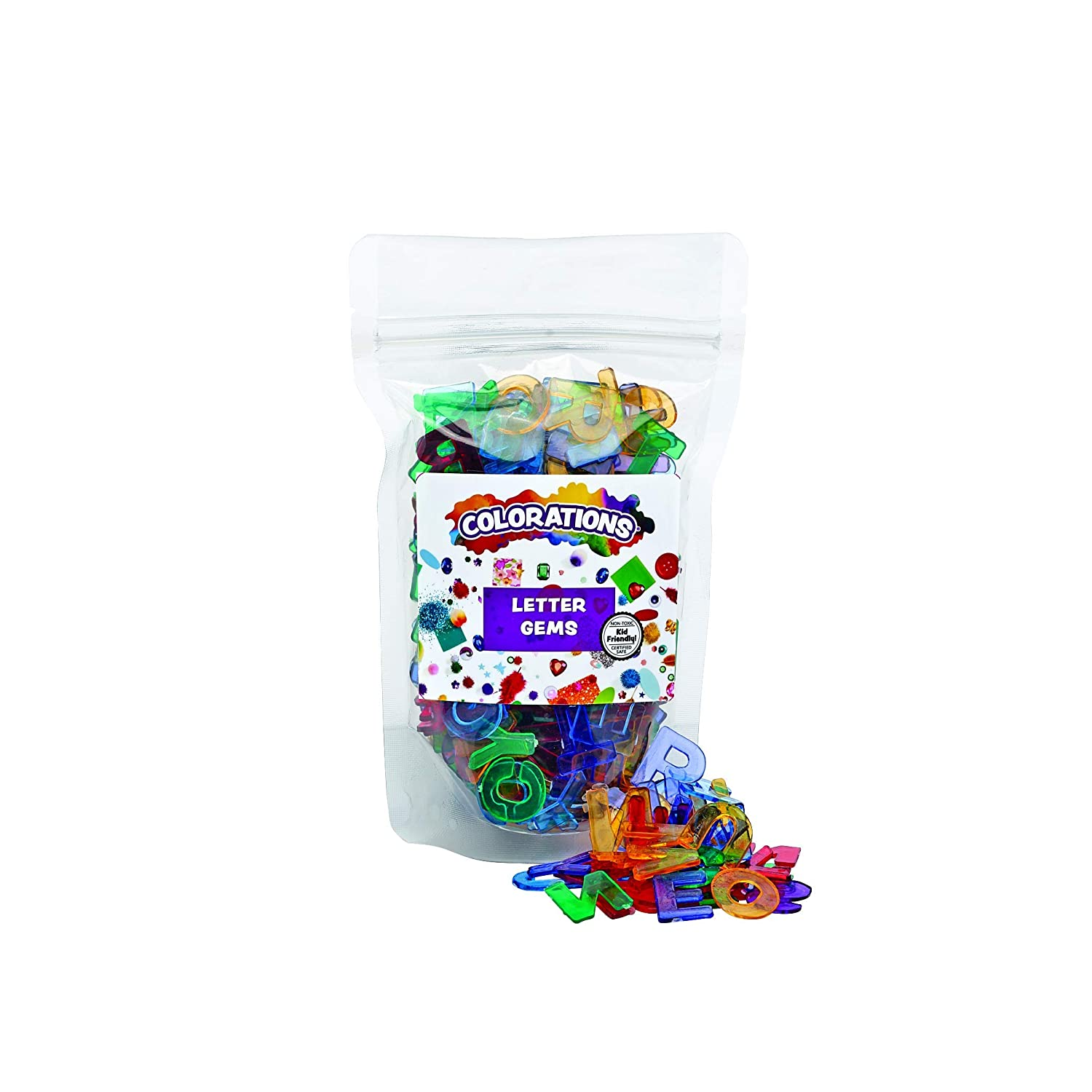 Colorations Translucent Multi-Color Direct stock discount Uppercase Letters Col Multi New popularity