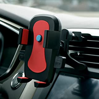 Car Phone Mount,One-hand Design Car Phone Holder for iPhone X 8/8Plus/7/7Plus/6s/6Plus/5S, Galaxy S5/S6/S7/S8,S8Plus, Google Nexus, LG, Huawei and More-Red