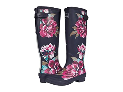 Joules Welly Print (Navy All Over Floral 1) Women