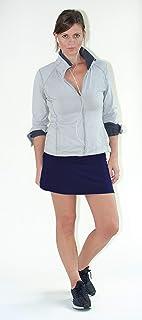Devon Women's Active Performance Skort Lightweight Skirt for Running Tennis Golf Workout Sports (Medium) Navy