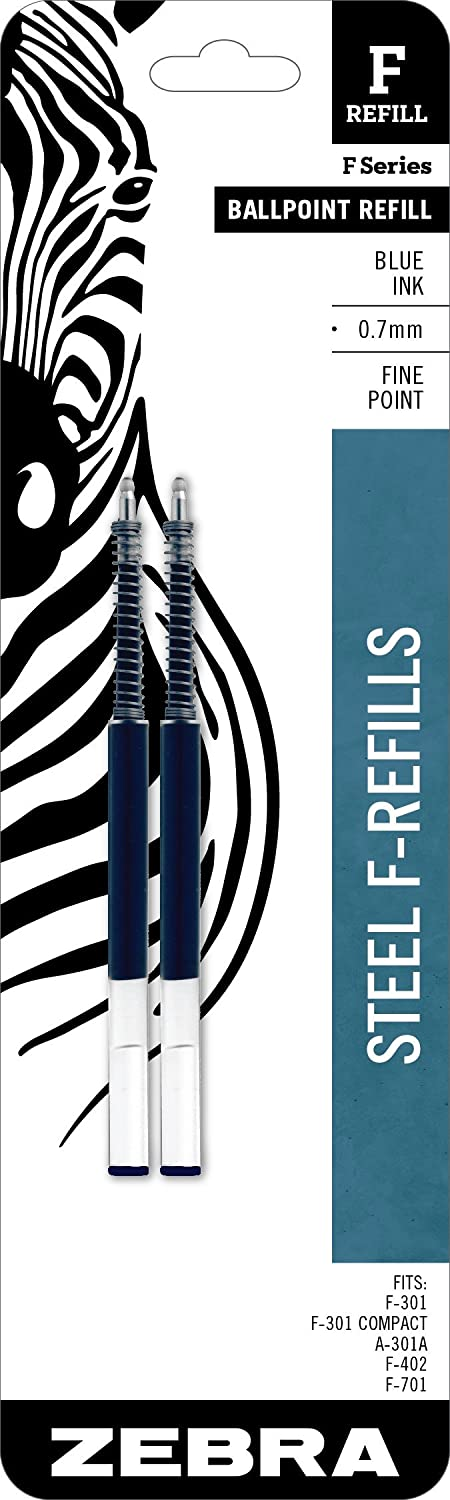 Zebra Year-end annual account F-Series Ballpoint Stainless Steel Point Refill Fine Max 43% OFF Pen