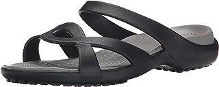 Crocs Women's Meleen Twist Sandal (40-41 M EU / 10 B(M) US, Black/Smoke)