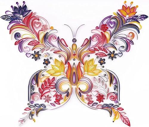 lowest Butterfly Paper Painting Kit - Butterfly&Flower DIY Art Decoration for Kids Bedroom online Kindergarten Home lowest Decor Birthday Gift sale