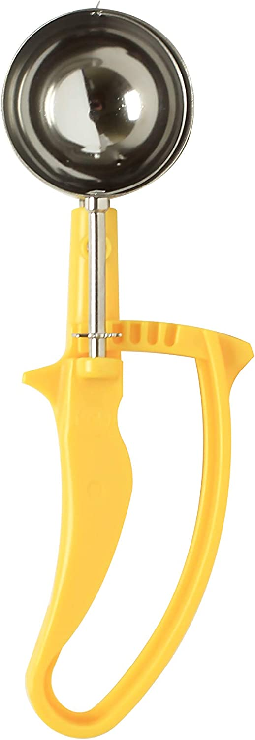 Thunder Group 1 5 8 OZ Ranking TOP17 Easy Grip Handle Yellow 20 Disher Special price