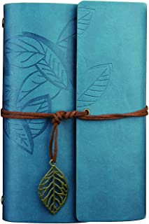 Leather Journal, Handmade Notebook, Travel Diary - Time Resistance, A5 (Blue)