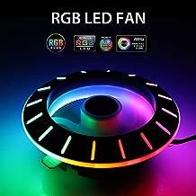 EEEKit CPU Cooler, 2000RPM RGB CPU Cooler Fans Cooler Master for LGA 775/1155/1156 AM3/AM2