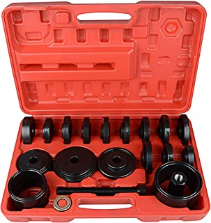 Sunluway 23 PCS FWD Front Wheel Drive Bearing Adapters Puller Press Replacement Installer Removal Tool Kit with Case