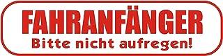 INDIGOS UG   Magnetschild Fahranfänger. Bitte Nicht aufregen 30 x 8 cm Streifen   Magnetfolie für Auto/LKW/Truck/Baustelle/Firma