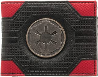 Star Wars Imperial Empire Emblem Logo Mix Material Bi-fold Gift Boxed Wallet